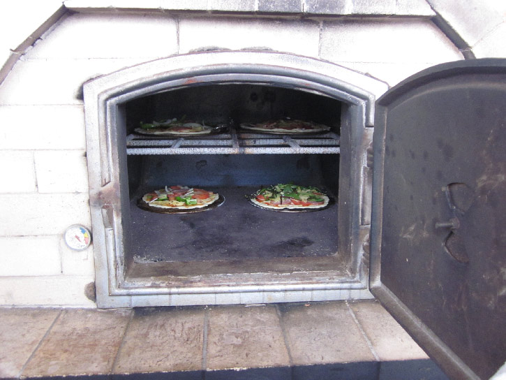 pizzain the oven